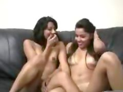 Casting Two young fuck with one man