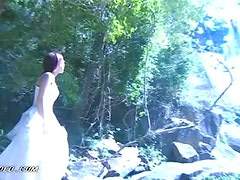 Asian Babe Grace Lam Having a Bath In the Nature