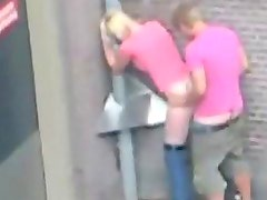 Amateur Couple Caught Fucking Outdoors In Public