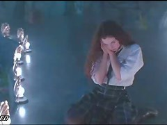 Sexy Mia Kirshner Performing a Hot Striptease In a School Outfit