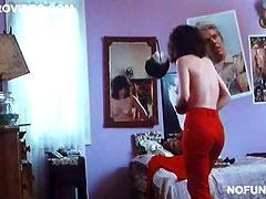 Kinky Guys Spying On Julie Brown while she Dresses
