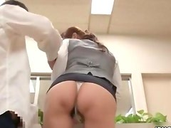 Office girl from Japan with a great ass