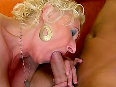 Chubby mature prefers young cock inside her