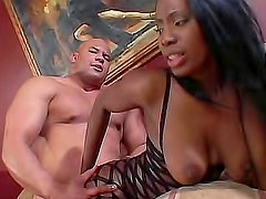 Black girl in lingerie for hardcore porn