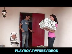 Pizza Delivery girl is seduced and fucked by a customer