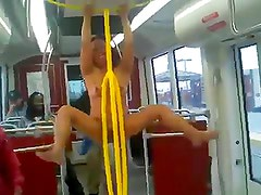 Naked woman on train screaming racial slurs