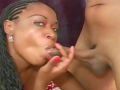 Black girl sex with big cumshot on cunt