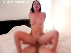 Hot slut rides the bone on camera