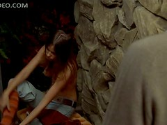 Naturally Busty Retro Babe Kay Lenz Takes Her Shirt Off