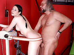 Bonerific Brunette Teen With a Round Ass Gets Fucked By an Old Man