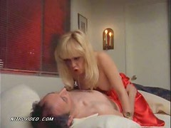 Blonde Linnea Quigley Shows Her Perky Knockers in a Hot Movie Scene
