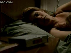 Blonde Lorraine Bracco In a Black Negligee