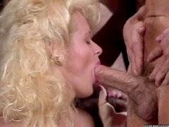 Hot bitch makes sure to get cum all over her mouth