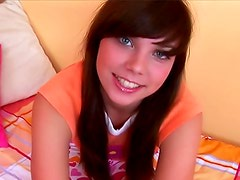 Blue eyed teen sweetheart solo play