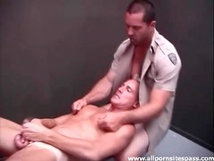 Cop fucks a smooth ass in the locker room