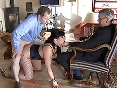 Slave is fucked while master watch