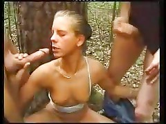 HORNY GERMAN TEEN FUCKED & SPRAYED IN THE FOREST  -JB$R