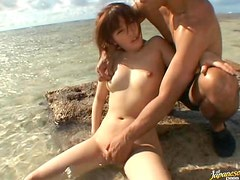 Playful Asian Teen Momo Lets Guys Finger Fuck her Hairy Pussy Outdoors