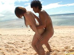 Cute Asian Babe Momo Gets Fucked and Covered in Cum Under the Sun
