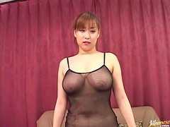 Busty Asian Masturbates Before Getting Fucked Really Hard