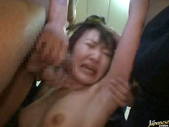 Sexy Asian MILF Gets Fucked and Covered in Cum By The Bang Gang