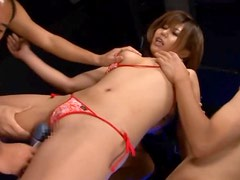 Four Dudes Give Their Cocks For This Asian Beauty To Suck