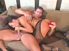 Sandra Romain Gets Facialized after a Hot Double Penetration Fuck