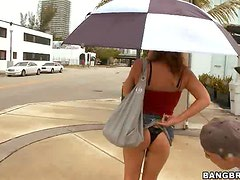 Olivia Sinclair Gets on her Knees Outdoors