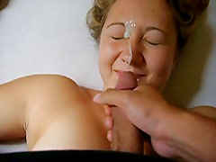 Blonde slut girlfriend getting full of hot cum