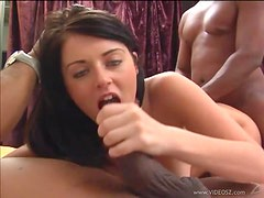 Sophie Dee Stands Alone Two Black Cocks in Interracial Threesome