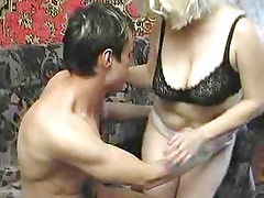 Russian Mature lady and boy