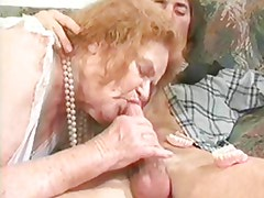 GRANNY AWARD 6 redhead mature with a young man