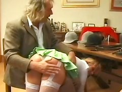 Two young ladies spanked and caned