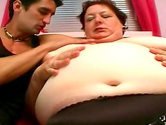 Flabby bitch fucked in her hot pussy