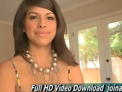 Leila experiencing adult nude work for the first time in her life