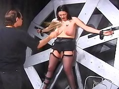 BDSM video with major titty pain
