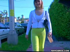 Green Tights Camel Toe!