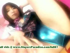 Ayane Sakurada innocent cute asian girl plays in her pussy with her fingers
