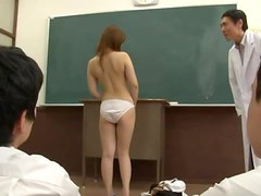 Saiya Aika Sucks Cock And Eats Cum In Front Of The Class