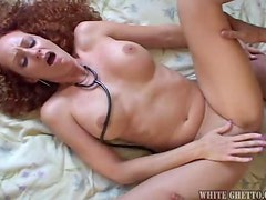 Kitty Caulfield the curly babe in nurse uniform gets fucked doggystyle