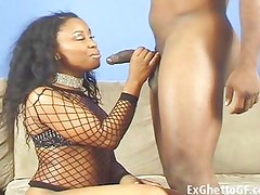 Black whore loves to deepthroat