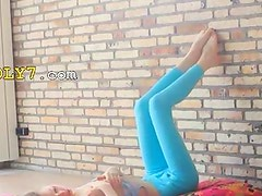 Superskinny doll woman stripping