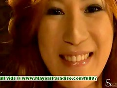 Natsu Ando innocent naughty asian girl is getting a snatch licking