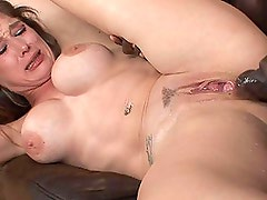 Big Black Cock Makes This Busty MILF Squirt!
