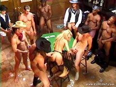 Bridgette Kerkove Wild West Orgy with 11 Cocks