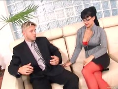 Hot Secretary Aletta Ocean Gets Ass Fucked