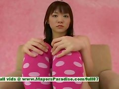 Shoko Yokoy innocent asian girl pokes her pussy with a dildo
