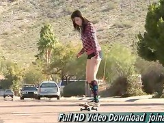 Aiden sporty girl is popular Playboy kinds of sporty stunts