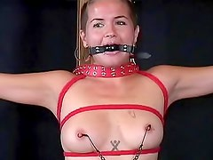 Bound upside down and flogged by master