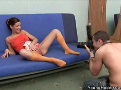 Alena Gets Nailed After Having Her Pussy Shot By A Camera